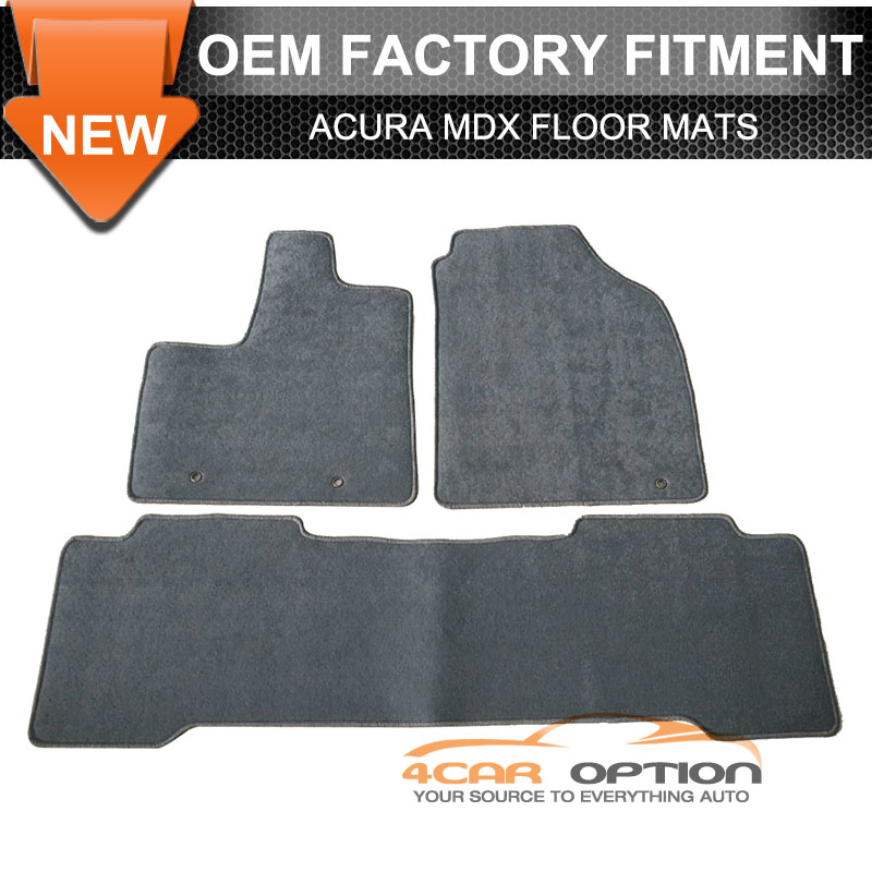 Fits 01-06 Acura MDX Floor Mats Carpet Front & Rear Gray