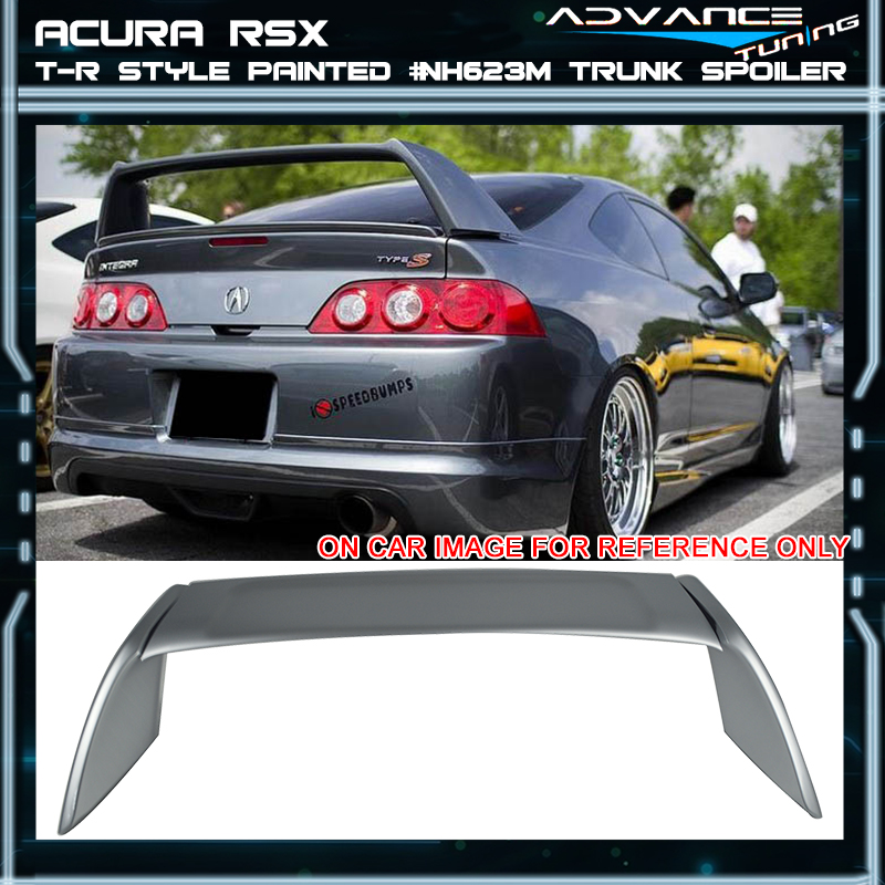 02-06 RSX DC5 Type-R Painted ABS Trunk Spoiler Satin