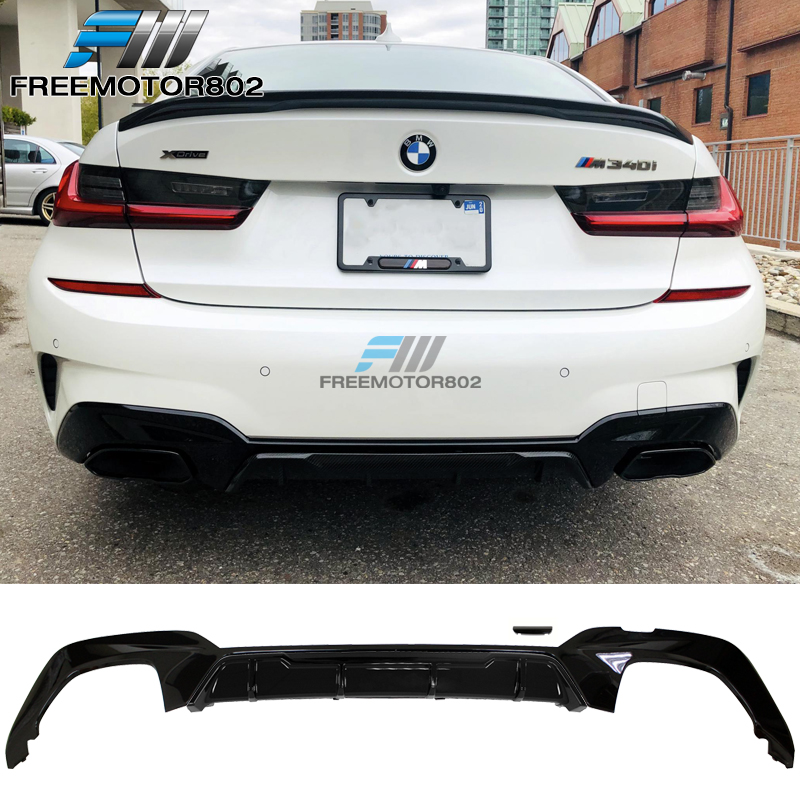 Fits 19-20 BMW G20 M340 Style Square Tip Rear Bumper Lip