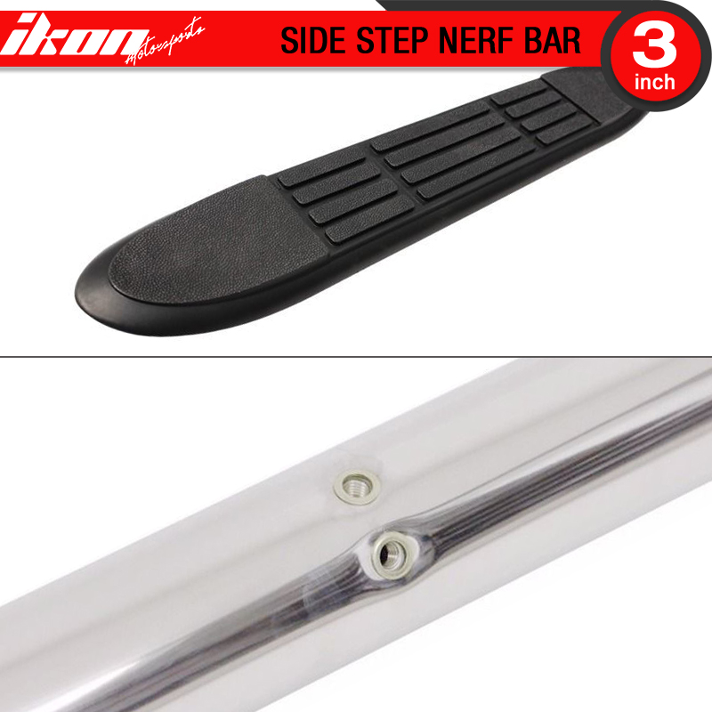 Fits 07-13 Acura MDX 3 Inch Stainless Steel Side Steps
