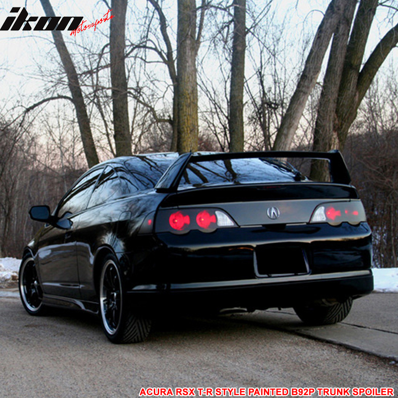 02-06 ACURA RSX DC5 Type R Trunk Spoiler Painted Nighthawk
