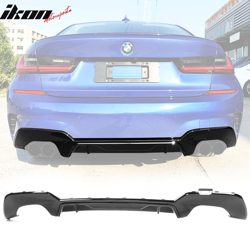 Fits 19-20 BMW 330i M-Tech M Sport Quad Exhaust Rear Lip